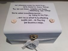 Shabby Personalised chic Gift For Bride From Bridesmaid / Maid Of Honour Etc